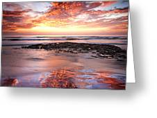 Incredible Sunset Greeting Card by Julianne Bradford