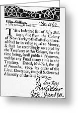 Indented Banknote, 1709 Greeting Card