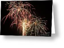 Independence Day Fireworks Greeting Card