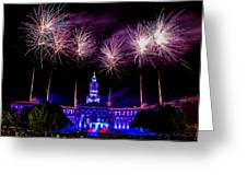 Independence Eve In Denver Colorado Greeting Card