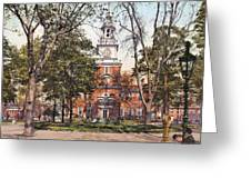 Independence Hall 1900 Greeting Card