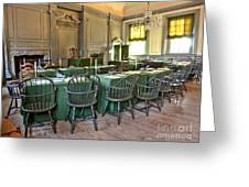 Independence Hall Greeting Card by Olivier Le Queinec