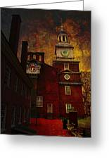 Independence Hall Philadelphia Let Freedom Ring Greeting Card
