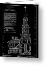 Independence Hall Transverse Section - Philadelphia Greeting Card