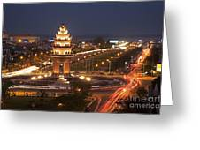 Independence Monument, Cambodia Greeting Card