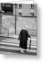 Independence - Street Crosswalk - Woman Greeting Card