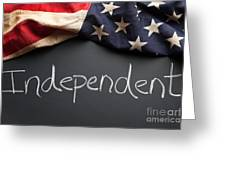 Independent Political Party Sign On Chalkboard Greeting Card