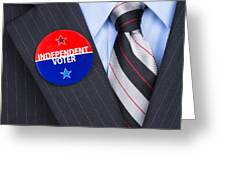 Independent Voter Pin Greeting Card