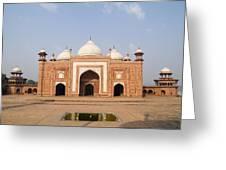 India, Next To Taj Mahal Agra, Taj Greeting Card