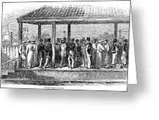 India Train Station, 1854 Greeting Card