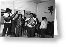 Indian Bar The Lucky Dollar  Tohono O'odham Chicken Scratch Band South Tucson Arizona 1975 Greeting Card