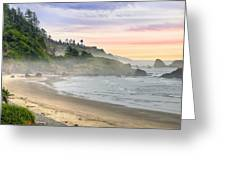 Indian Beach One Foggy Morning Greeting Card