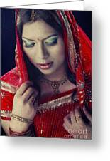 Indian Beauty Greeting Card