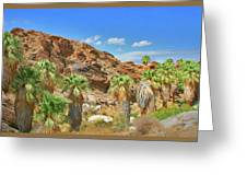 Indian Canyons View In Palm Springs Greeting Card