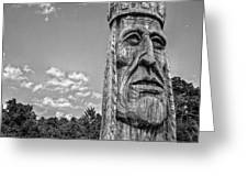 Indian Chief Charlestowne Landing Greeting Card