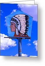 Indian Chief Sign Greeting Card