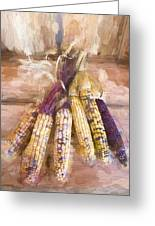Indian Corn Painterly Effect Greeting Card