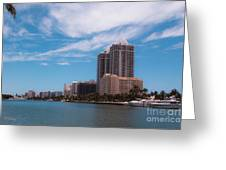 Indian Creek And Blue Tower Condos Greeting Card