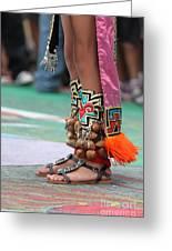 Indian Feet Greeting Card