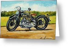 Indian Four 1933 Greeting Card
