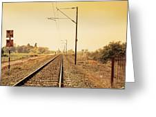 Indian Hinterland Railroad Track Greeting Card