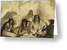 Indian Hospitality - Conversing With Signs Greeting Card