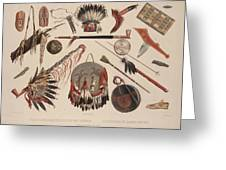 Indian Implements And Arms Greeting Card