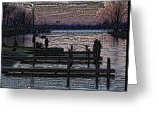 Indian Lake Evening Greeting Card