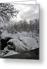Indian Leap In Winter Greeting Card