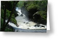 Indian Leap Overhead Greeting Card