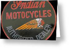 Indian Motocycle Dealer Greeting Card