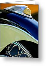 Indian Motorcycle Fender Emblem Greeting Card