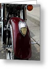 Indian Motorcycle Greeting Card