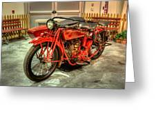 Indian Motorcycle With Sidecar Greeting Card