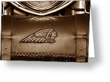 Indian Motorcycles Greeting Card