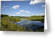 Indian Mounds In Moundville Alabama  Greeting Card by Carol M Highsmith