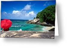 Indian Ocean Moyenne Island Seychelles Greeting Card