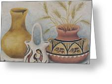 Indian Pots Greeting Card