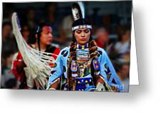 Indian Princess Greeting Card by Scarlett Images Photography