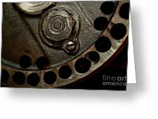 Indian Racer Crankshaft Fly Wheel Greeting Card