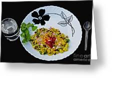 Indian Snacks - Poha Greeting Card