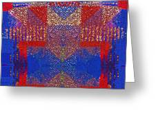 Indian Weave Abstract Greeting Card
