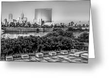 Indiana - Downtown From Across White River Panoramic Greeting Card