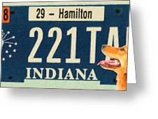 Indiana License Plate Greeting Card
