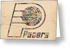Indiana Pacers Poster Art Greeting Card