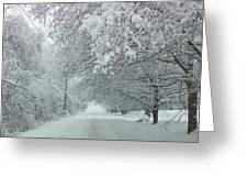 Indiana Snow Greeting Card