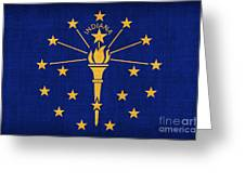 Indiana State Flag Greeting Card by Pixel Chimp