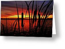 Indiana Sunset Greeting Card by Benjamin Yeager