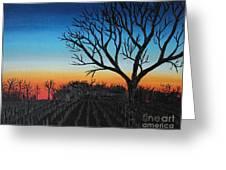 Indiana Sunset Greeting Card