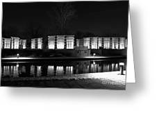Indiana War Memorial On The Canal Greeting Card